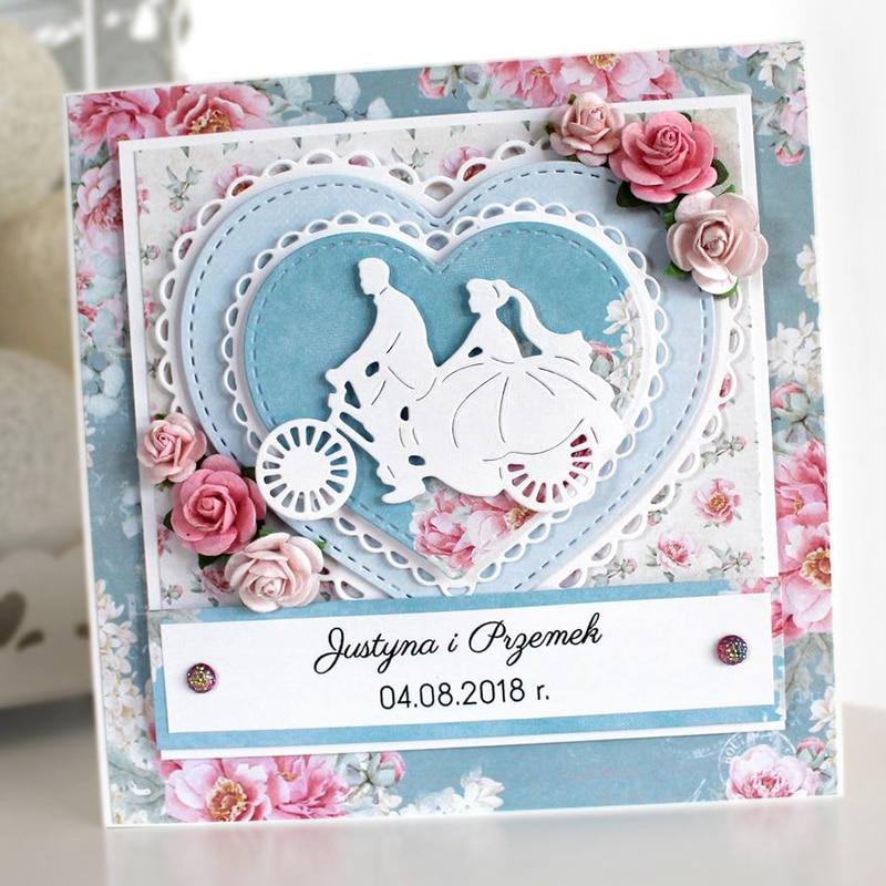 Happy Wedding Love Couple Metal Cutting Dies For Scrapbooking Diy Photo Album Card Making Decorative Stencil New 2019 Aliexpress