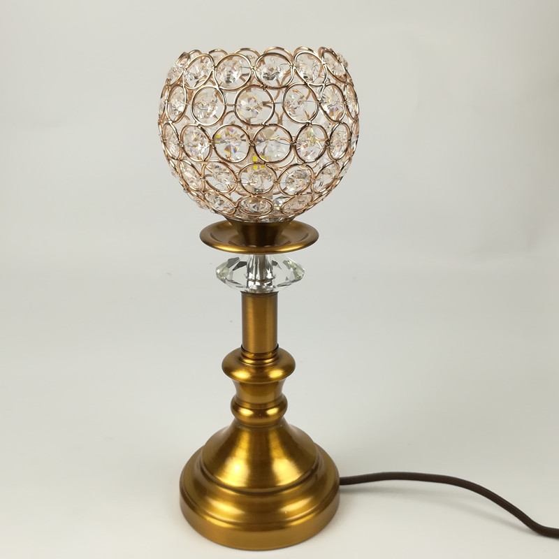 Classical fashion Modern table lamp GOLD  iron and crystal lamp shade metal LED indoor light  desk bedroom Office table  lamp<br>
