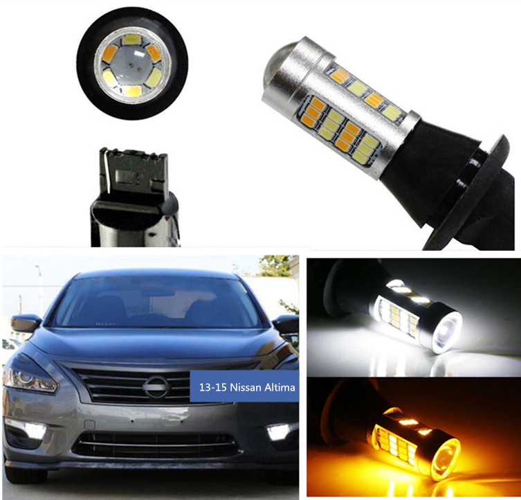 Free shipping 42-SMD LED Kit  Daytime Lights/Turn Signal For 13-15 Nissan Altima<br>