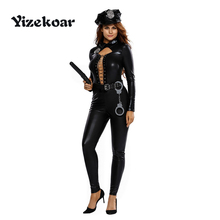 Yizekoar 2017 Halloween Costumes for Women Sexy Adult New Year Cosplay 6pcs Frisky Officer Costume DL89036