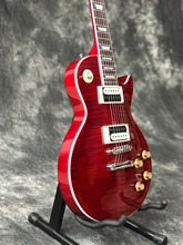 Vicers  2013 new arrival Slash guitar LP Traditional Electric Guitar red tansparent Sunburst with zebra pickups
