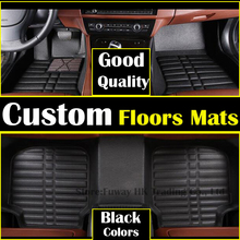 high strength pedal Custom car floor mats for Toyota corolla Reiz RAV4 Camry highlander 5 /7 seat 3D car styling carpet liner
