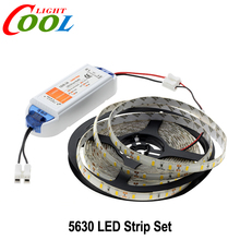 LED Strip 5630 Single Color 5M 300LEDs Warm White/White/Cold White Neon Tape Lamp + 12V 6.3A Lighting Transformer
