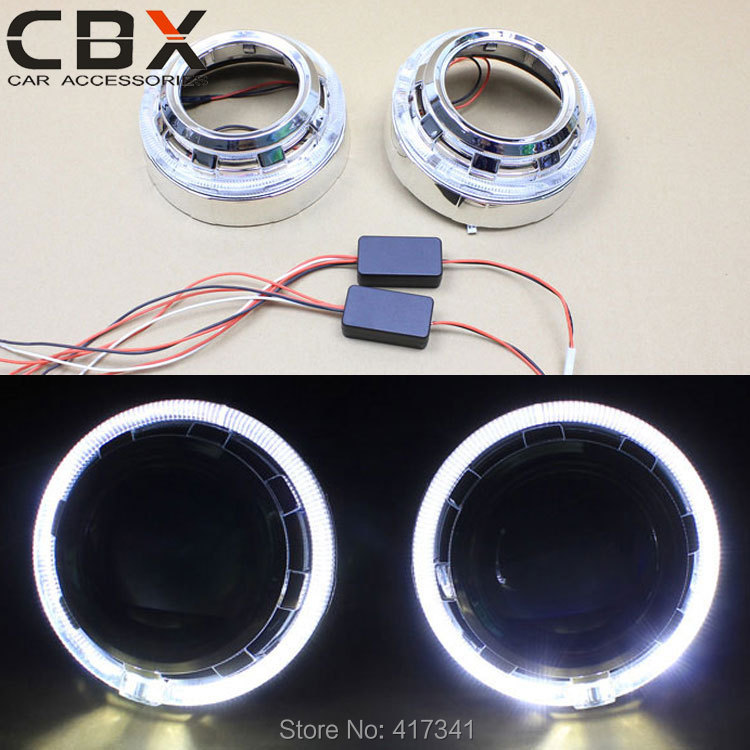 New LR 3 Inches Bi-xenon Projector Lens Shroud Integrated with LED Angel Eye High Brightness for Koito Q5 Hella Projector Lens<br><br>Aliexpress