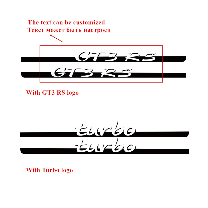 For Porsche 911 Turbo Styling Door Side Skirt Stripes Decal Auto Body Decor Sticker Car Exterior Accessories Modification Decals (4)_