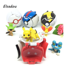 Elsadou Pokeball Go Toys Pocket Monster Pikachu Action Figure Toy Doll