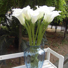 1PC Big Size PU Real Touch Callas Taro White Flowers Artificial Calla Lily Flower Home Wedding Christmas Party Decoration