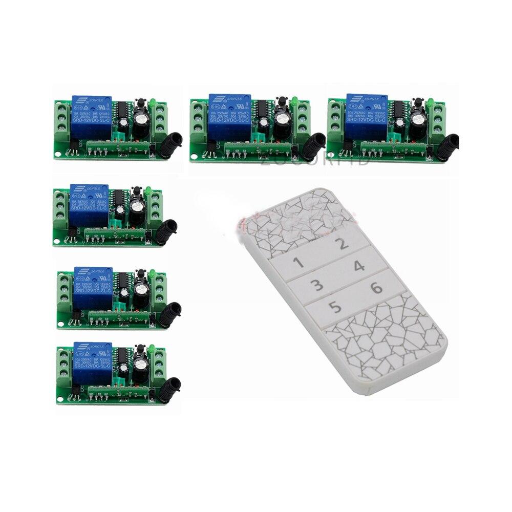 DIY  6 Ways ON/OFF 220V Wireless Remote Control Switch Digital Remote Control Switch for Home appliance<br>