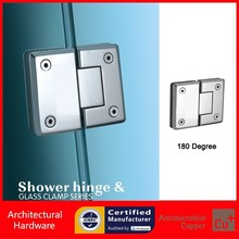 180 Degree Shower Door Hinge Glass to Glass Mounted Precision-Cast 304 Stainless Steel Spring Hinges DC-1015(China)