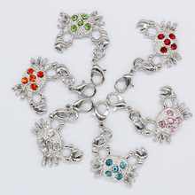 The new 2016 sweet romantic mini crab lobster clasp pendant jewelry products(China)