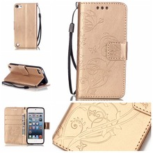 Flip Patterned 3D Bling PU Leather Wallet Card Slot Stand Case Cover Bumper For Apple iPod Touch 5 6