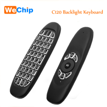 Fly air mouse C120 Backlight Wireless Game Keyboard Rechargeable 2.4GHz Universal Smart Controle Remote for Android Tv Box Pc