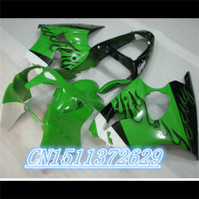 Dor-For 2000-2002 ZX6R ZX636 GREEN BLACK ABS Full Fairing Kit Fairing Bodykit Fairing Cover D injection(China)