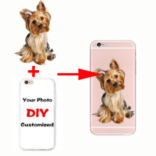 Custom Design DIY Transparente Silicone Case Cover Customized Printing Cell Phone Case For iPhone 6 6s 5 5s SE 7 6plus 8 X(China)