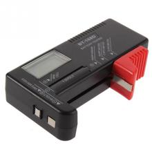 Portable Digital Battery Tester Black Digital Battery Power Measuring Instrument The Function Battery Tester BT-168D