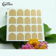 TKGOES Free Shipping 5 sheets Clear False Nail Tips Double Side Adhesive Glue Sticky Tape For Nail Tips Art Tools #0136