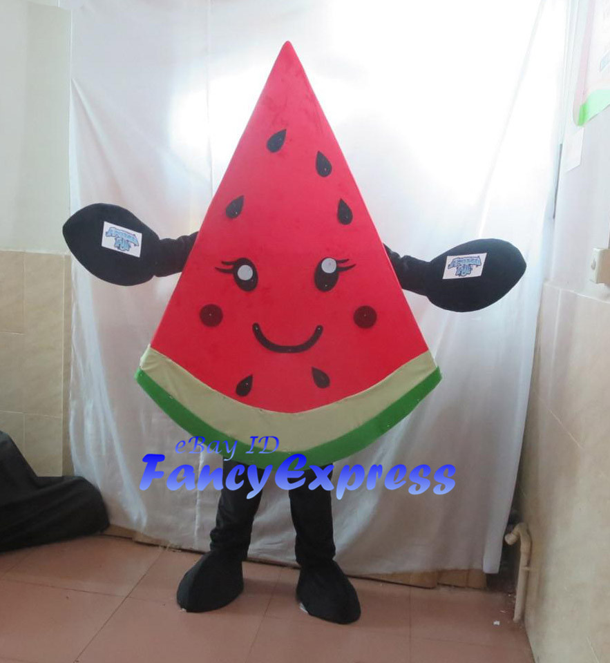Watermelon Mascot Costume Fruit Birthday Party Halloween Fancy Cosplay Performance Advertising Dress Adult Size Outfit No.2