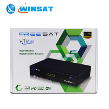Quality set top box with supporting PowerVu & DRE & Biss key server for satellite tv receiver decoders box Freesat V7 Max