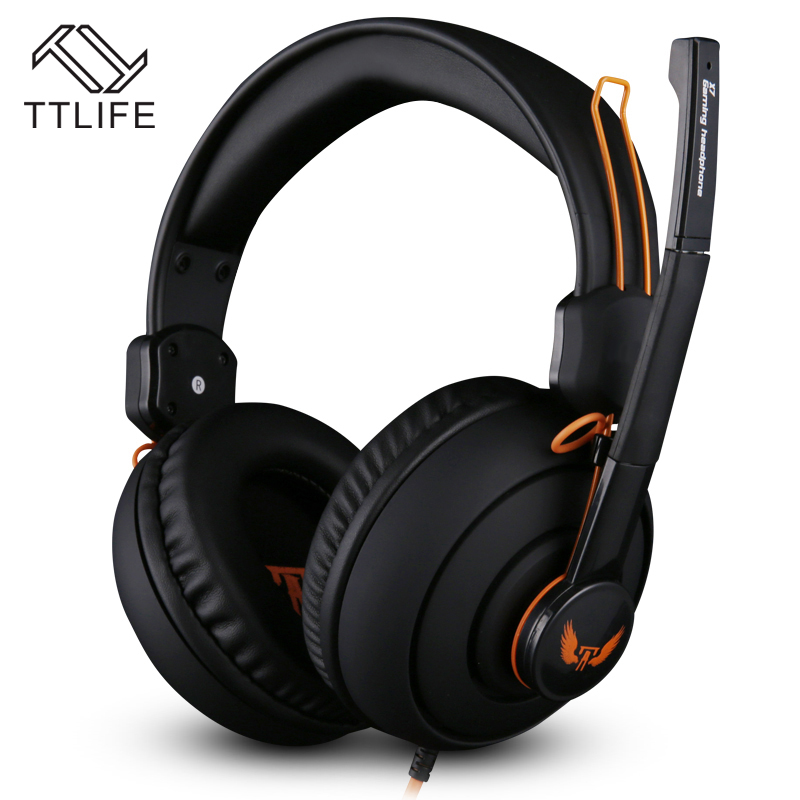 2017 Orignal TTLIFE Headphones 3.5mm Gaming Headsets Stereo  Earphone with Mic Microphone for Mobile Phone MP3/MP4 PC/Video Game<br><br>Aliexpress
