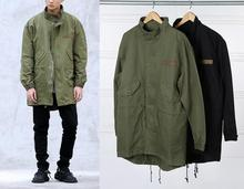 fashion hip hop korean hot sale men's japan jacket overcoat windbreaker kanye west  long military style european trench coat
