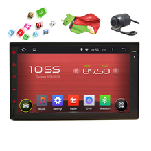 "Android 5.1 2din double din Car Radio WiFi 1080P FM GPS Stereo No-DVD In Dash RDS Capacitive Camera 7"" System Receiver Autoradio(China)"