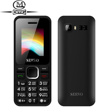 "Russian keyboard Mini mobile phone 1.77"" Dual SIM Card Original SERVO V8210 GPRS Vibration Bluetooth Low Radiation Cell phones"
