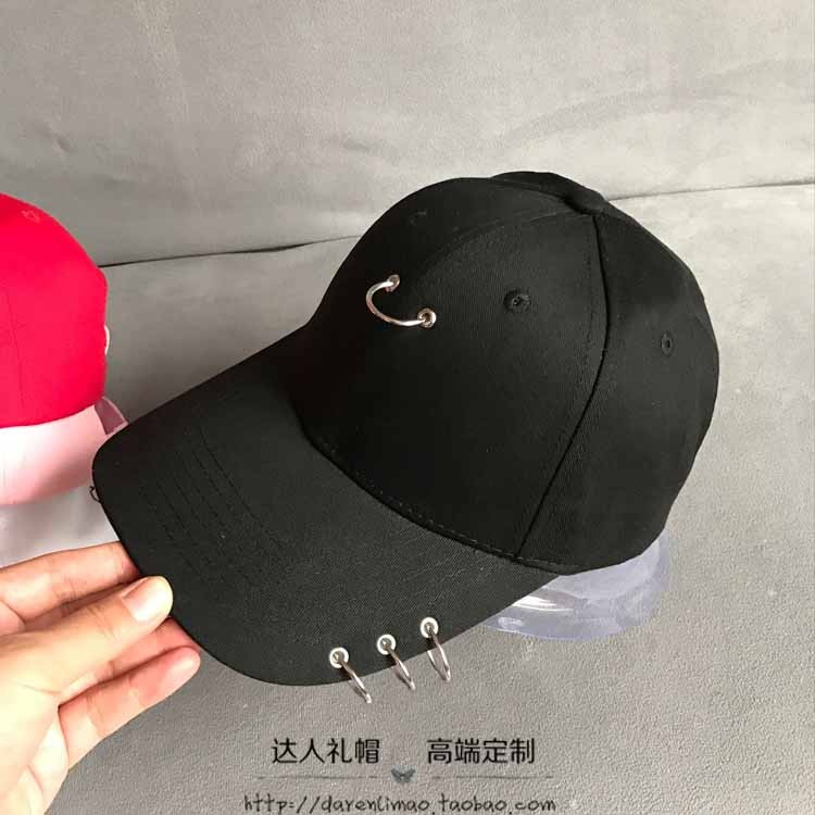 Metal ring Baseball Cap Hat couple hat for men and women<br><br>Aliexpress