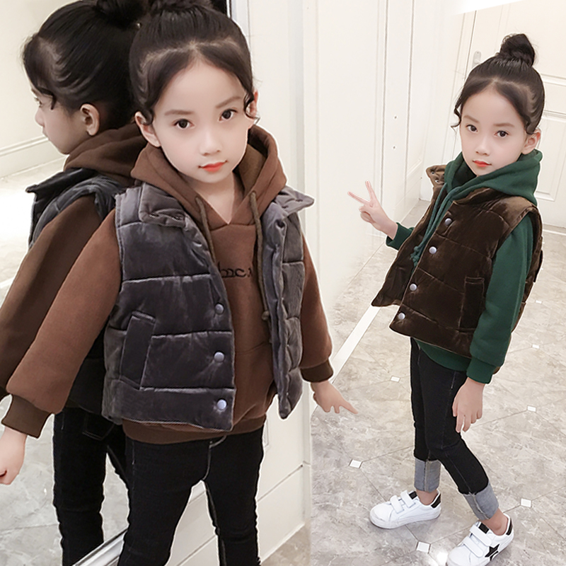 2017 new girls winter suit western style cute baby sweater coat boy kids children warm cashmere vest plus leisure two suit<br>