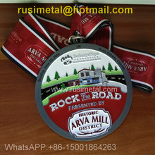 Personalized custom paint medals, ancient tin plating color, 5K meter sports medals, custom medals around the city run
