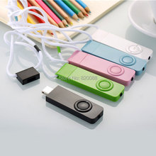 Fashional U Flash Disk & MP3 Music Player,Necklace Hanging Neck Type Running Sports Mini MP3,Free Shipping