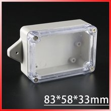 83*58*33mm small electronics enclosure plastic enclosure waterproof junction box switch box DIY PLC project box IP65