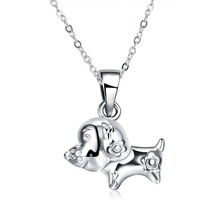 Creative Chinese wind jewelry 925 sterling silver puppy pendant girl birthday gift 925 silver cute personalized jewelry(China)