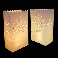 20Pcs/lot Sunshine Tea light Holder Luminaria Paper Lantern Candle Bag For Christmas Party Wedding Decoration