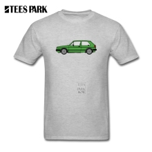 Men White Shirt MK2 Golfing Westy Green VW Homem Organnic Cotton Short Sleeve T shirt Custom Teenage Vintage Tee Shirts(China)