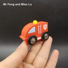 Wooden Car Toy Children Gift Fire Truck Model Kid(China)