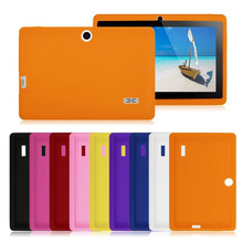 "5pcs/lot Soft Silicone Rubber Protective Back Cover Case For IRULU eXpro 1X1 Q88 Q8 7"" Allwinner A33 A13 Android Tablet PC case(China)"
