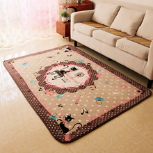 Brown Cat Rugs And Carpets For Home Living Room Children Bedroom Area Rug Kids Play Game Floor Mat Soft Velvet Table Carpet