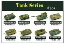 8pcs  4D Model Kit Tank  Assembling Tanks 1:72 OO Scale Layout BOX SET NEW  C7501 railway modeling