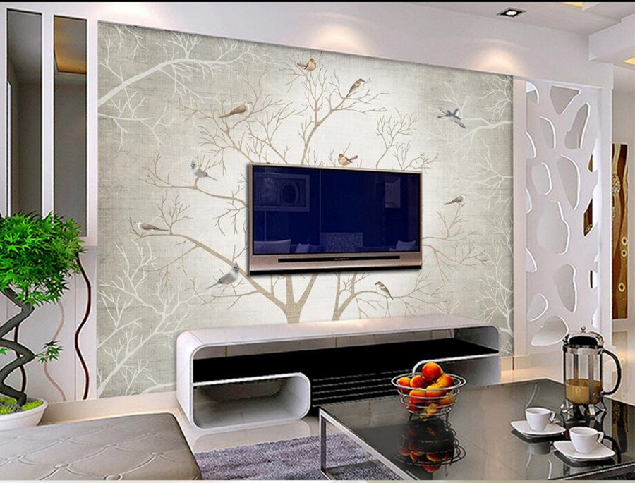 Large mural papel de parede,European nostalgia Abstract flower and bird wallpaper,living room sofa TV wall bedroom 3d wallpaper<br>