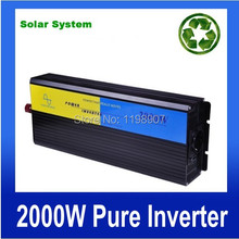 High efficiency Home Invertor , DC12V to AC110V/220V 2000W Pure Sine Wave Invertor off grid tie, portable solar power Invertor