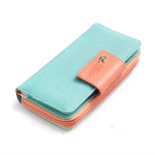2017 Women Wallets New Winter Fashion Trends Pumping Multi-card Position Two Fold Wallet lady Long Zipper Purse Card Holder