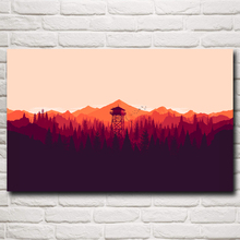 Firewatch Video Games Mountains Minimalism Forest Art Silk Poster Home Decor Printing 12x19 15x24 19x30 22x35 Inch Free Shipping(China)