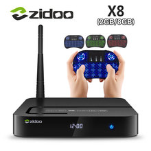 ZIDOO X8 Realtek RTD1295 Android 6.0 OpenWRT(NAS) TV BOX 2GB/8GB AC WIFI 1000M LAN USB3.0 HDMI2.0 HDR Bluetooth 4.0 Media Player(China)