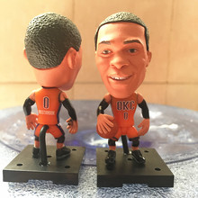 Basketball Star Player Figure Movable Series 2017 THU 0 Westbrook Doll Orange Jersey Collections Gift Hot Sales(China)