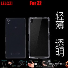 LELOZI Soft Transparent TPU Clear Silicone Gel Silicon Fundas Etui Case Cover For Sony Xperia Z2 D6503 D6502 Cheap Protective