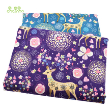 Printed Cotton Linen Fabric For Patchwork Quilting Sewing DIY Sofa Table Cloth Furniture Cover Tissue Curtain Bag Cushion Fabric(China)