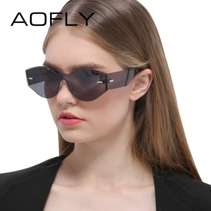 AOFLY Women Sunglasses Rimless Fashion Original Brand Women Designer Sun glasses Retro Integrated Sun Glasses Oculos Feminino<br><br>Aliexpress