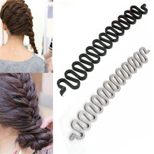 3 Colors Fashion Magic Easy Braid Women Wave Hair Disk Device Tress Hair Braider(China)