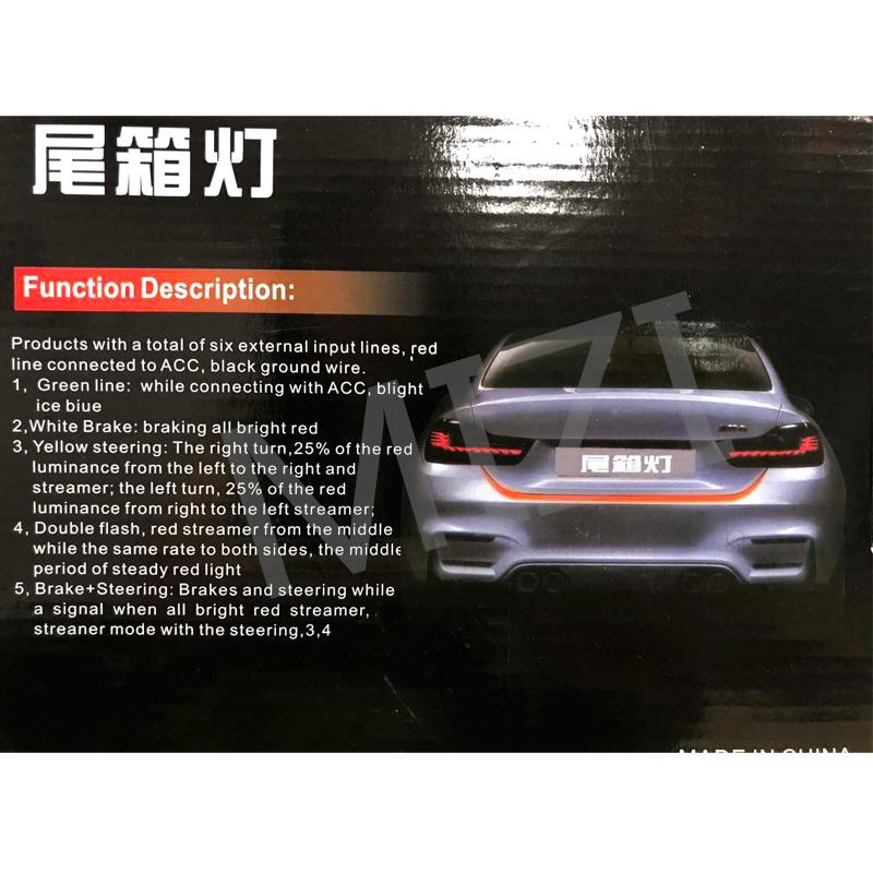Car-styling DRL LEDs Daytime Running Light Strip Trunk Light with Side Turn Signals Rear lights Car Braking Light For BMW 9