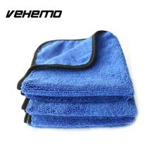 Vehemo Car Care Auto Wax Polishing Detailing Wash Towels Microfibre Cleaning Cloth Car Washing Drying Towel Super Thick Plush